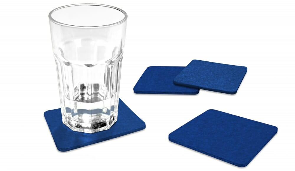 FILU Filzuntersetzer eckig blau TYSK Design