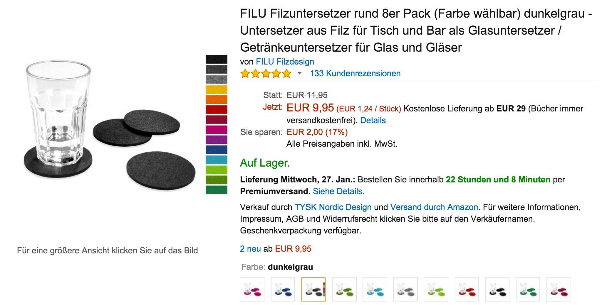 FILU Untersetzer bei Amazon.de