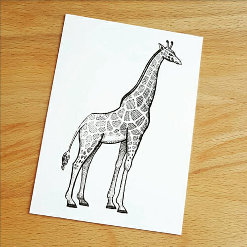 Giraffe-Postkarte-TYSK-Design